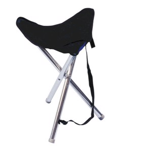Three leg stool Trio, blue with shoulder strap