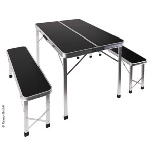 Camping Picnic Table, PICKNICK, Camp4, with 2 Benches
