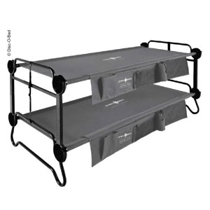 Bunk bed Disc-O-Bed L anthracite with side pockets