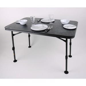Camp4 Camping Table CALAIS STONE 115x70x55-74 cm, Black