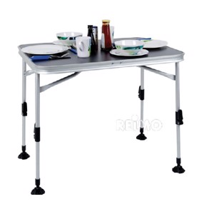 Folding Camping Table, PARIS, 80x60x70cm, Tabletop: Chic Anthracite