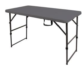 Folding Camping Table, EASY I, Camp4, 122x61cm, Grey