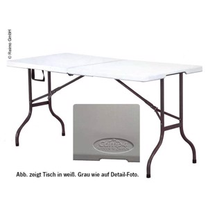 Folding Camping Table, EASY II, Camp4, 152x70 cm, Grey
