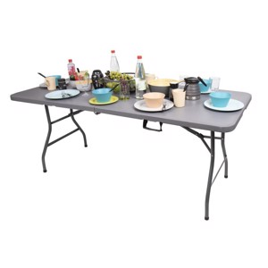 Folding Camping Table, EASY III, Camp4, 180x75cm, Grey