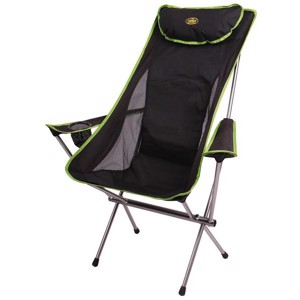 Folding Camping Chair, SANTA FE Camp5, black/lime