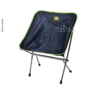 Folding Camping Chair, LITTLE ROCK, black/lime