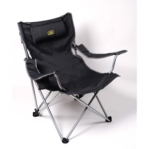 Reclining Camping Chair, Deluxe Snobby II Camp4, grey