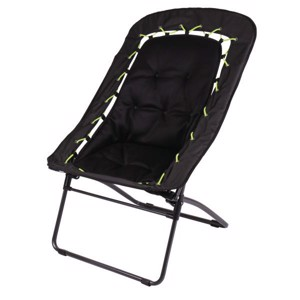 Folding Camping Chair, BUNGEE Camp4, 81x71x99, black/lime