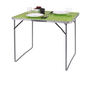 Camp4 Camping Table TWIGGY Lime 80x69x60cm; MDF Table Top