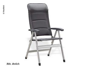 Camping chair Pioneer charcol grey - upholstered, four-legged chair