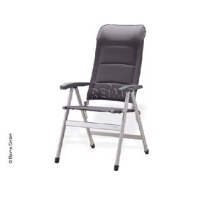 Camping chair Smart high Colour: grey 7-way adjustable