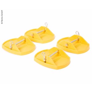 Support plate set 4 pieces, yellow