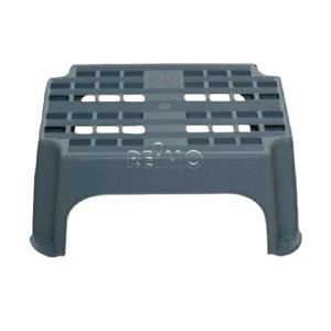 Step tread plastic grey 46x28x23cm, resilient up to 200kg