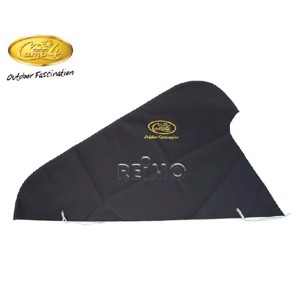 Drawbar hood, black, made of polyester