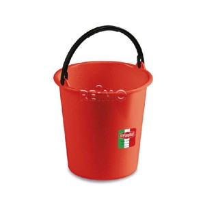 Multi purpose bin with foldable grip, 7l, red