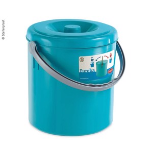 Litter bin with lid closure