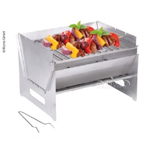 mobile pluggable barbecue 250x300x220mm, stainless steel