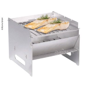 mobile foldable barbecue 250x250x220mm, stainless steel