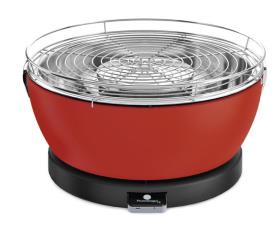 "Charcoal table grill ""Vesuvio"" Ø 33 cm, Red"