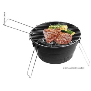 Pop up Grill, black, ø28cm