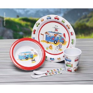 "Childrens Tableware, Set 5 pcs., ""Harry and Friends"" Campervan Design"