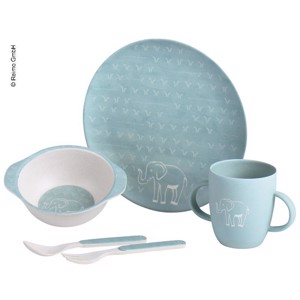 Bamboo Kids Tableware, Set 5 pcs, Elephants