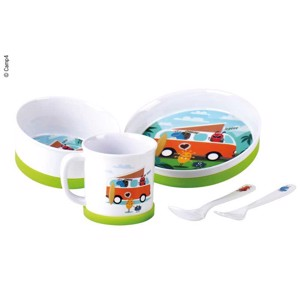 Kids Tableware, Set 5 pcs, CAMPING MONSTER