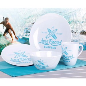 Melamine Tableware Set, LONGBOARD Camp4, For 2 People/8 Parts