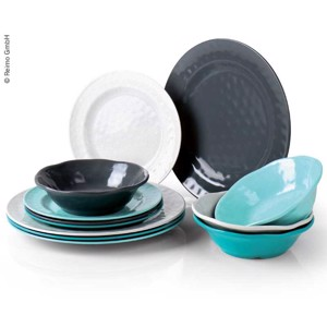 Melamine Tableware, Set CHALET Camp4, For 4 People/12 Parts