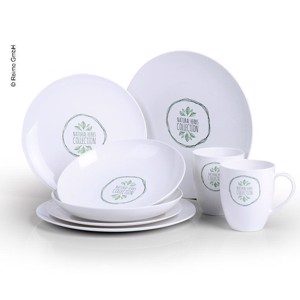 PLA Tableware, Set NATURE, For 2 People/8 Parts