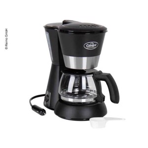 Coffee maker 12V 170W, black 650ml, 4-6 cups