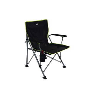Camping Beach Chair, Camp4, black/lime