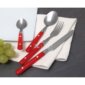 Camping Cutlery, SUNSET Camp4, 6 People/24-parts, red