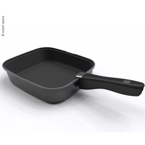 Pan SMARTSPACE, 3 parts, 1 pan with handle and silicone mat