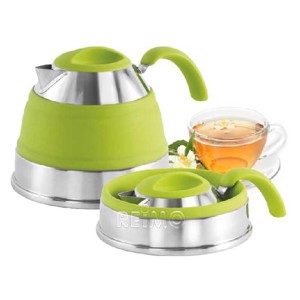 Foldable kettle green, content 1,5l
