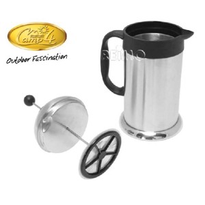 French Press Coffee Maker Cafeterie silver 1,0 Liter, stainless steel