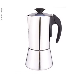 Espresso maker DeLuxe, stainless steel, 6 cups