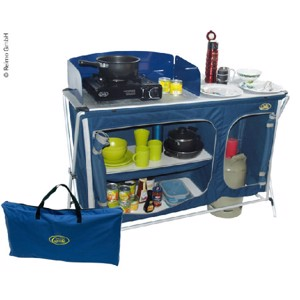 Camping Kitchen, Cuccina Quick, with Sink, Blue