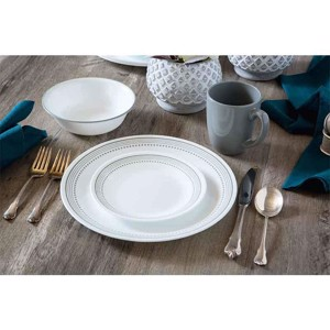 Crockery set CORELLE MYSTIC GREY, 12 pieces, for 4 persons, indestructible