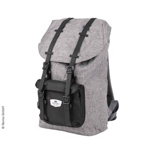 Backpack HOLIDAY TRAVEL, grey, separate laptop inner compartment