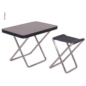 Camping stool with table top, anthracite