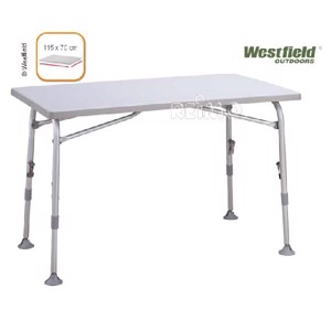 Westfield Camping Table, SUPERB, Folding Camping Table, 115x70 cm