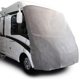 Front protection tarpaulin for integrated motorhomes, 240cm high