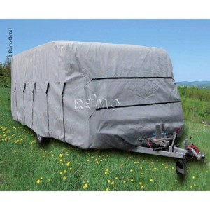 Caravan protection cover winter proof and thereby breathable