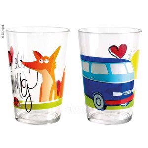 Kids Glasses Set of 2, Design:WE LOVE CAMPING, Matches 91798