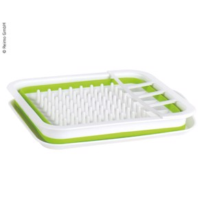 dish dryer foldable, 37x31x6/13cm, white/lime
