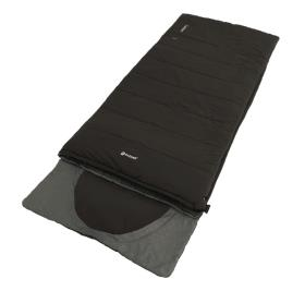 Outwell Sleeping Bag Contour, Black, 220x85 cm, Integrated Pillow