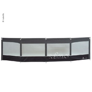 Windshield Linea, 460x110cm, granite/black