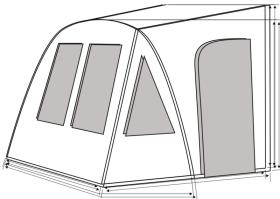 Caravan awning ONE BEAM AIR, inflatable