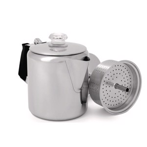 Percolator, 0,9l, 6 cups, stainless steel,
